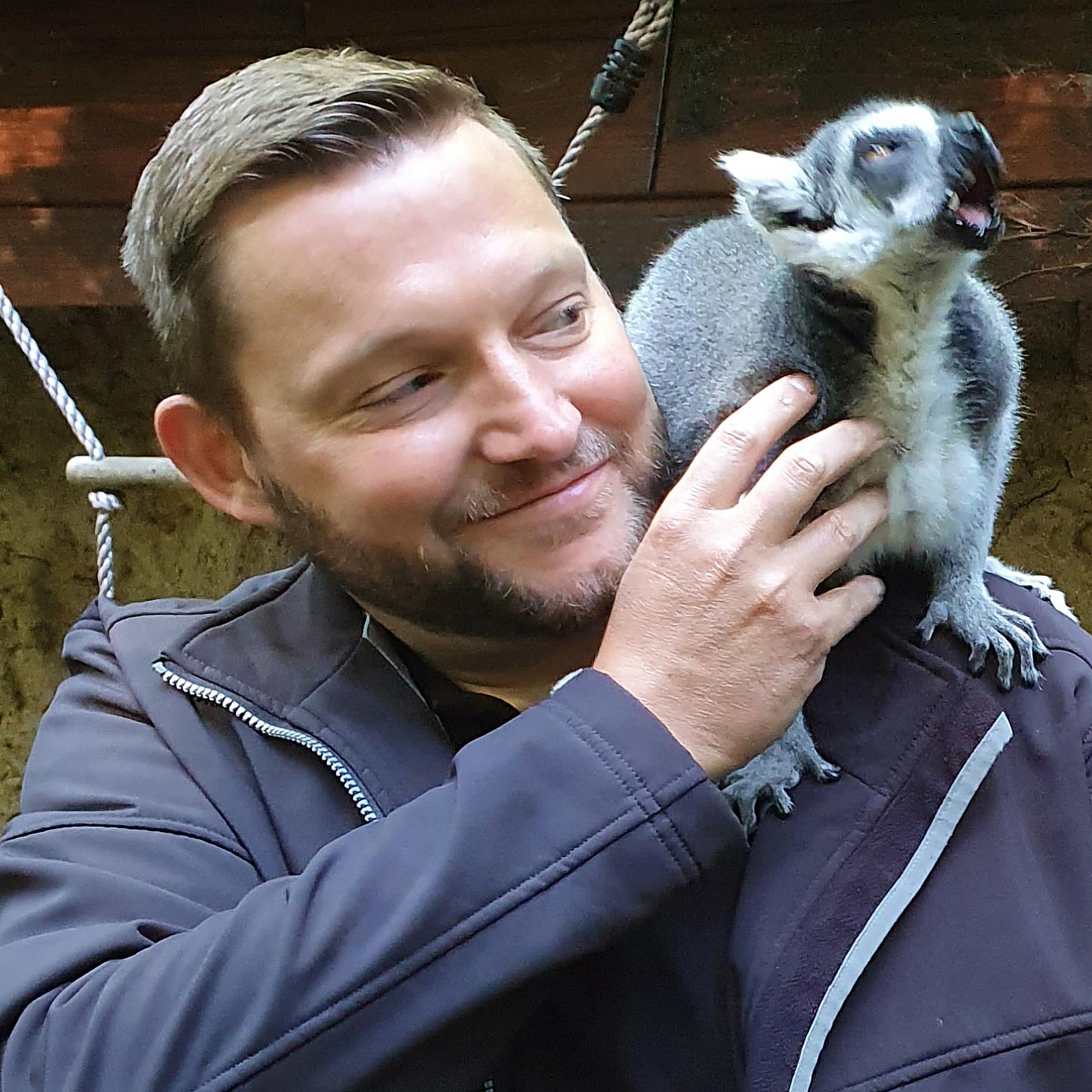 Als Zoobeiratsmitglied bei einer geführten Zooführung. Foto: Paulina Ostrowska